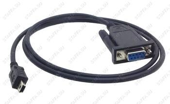 Кабель mini USB -> COM для подключения ICT 220/250 к RS232 порту (COM-кабель) 2м