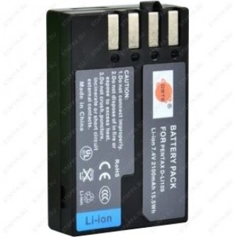 Аккумулятор для Pentax D-LI109 2100mAh для K-30, K-50, K-500, K-r, Efina Image 0