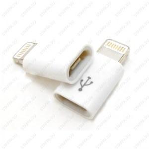 Переходник microUSB на 8-пин Apple iPhone iPadUSB 3.1 штекер microUSB гнездо для подключения к USB 3.1 внешних устройств microUSB Image 1