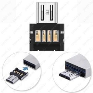 Безкорпусной с USB на microUSB переходник для подключения внешних устройств Image 0