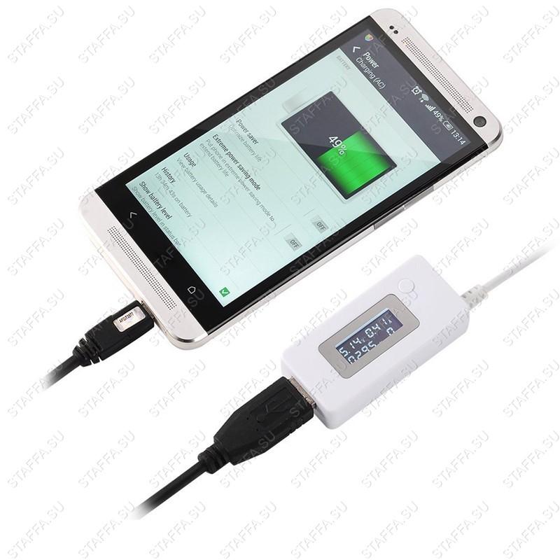 VACT-017 LCD USB тестер (напряжение, ток, емкость, память)